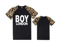 Fashion Boys leather sleeve short Tee shirts brand boy london basic t-shirt men t shirt street dance clothing plus size