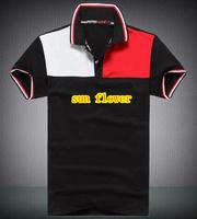 3 PCS/LOT 2014 summer mens fashion short sleeve Stitching color t shirt 6 color can choose size :M L XL XXL