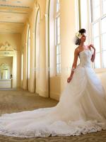2014 New Arrival Sweetheart Sweep/ Brush Train Up Mermaid Bridal Gown Wedding Dress Tube Top Diamond Royal Big Train Gownbridalk