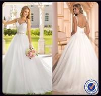 TB5894 Romantic Designer Straps Last Wedding Gown Designs