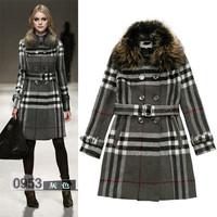 winter jacket women coats thick new 2014 winter coat women parkas 3 color Large raccoon fur collar coat fur collar high-end