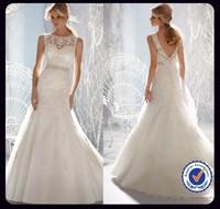 TBML08 Fashion Designer Bateau Lace Mermaid Wedding Dress