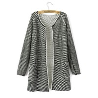 Women's new spring autumn long section knitting cardigan, high fashion quality, free shipping