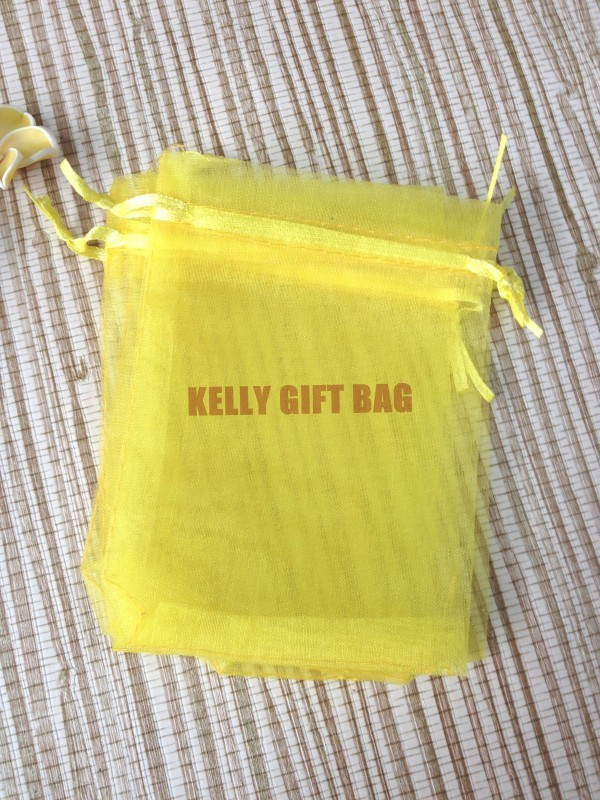 Free Shipping ! Small Drawstring Organza Gift Bags 9*12cm ,100pcs/lot Yellow Pouches For Party Gift Packaging(China (Mainland))