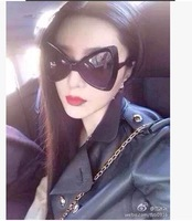 2014 three-dimensional bow style sun glasses oversized sunglasses