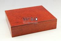"MAYBAO 9.8"" Wooden Cigar Humidor Wood Cigar Case Wooden Cigar Box With Humidifier &  Hygrometer For 30 Cigars HSB-079"