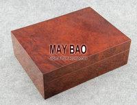 "MAYBAO 9.8"" Wooden Cigar Humidor Wood Cigar Case Wooden Cigar Box With Humidifier &  Hygrometer For 25-40 Cigars HSB-02"