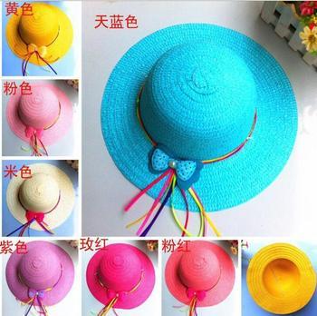 Хиты 2014 продажа новые Hat мода симпатичные бантом стример дети хлопок ковша шляпы Cap розничная