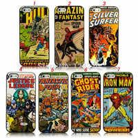 For iphone  4 4s 5 5s plastic custom Captain America spider-man comic cover wholesale