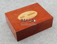 """MAYBAO 9.8"""" Wood Cigar Humidor Cigar Case Wooden Cigar Box With Humidifier &  Hygrometer For 25-40 Cigars HSB-01"""