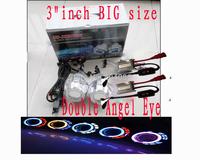 HID Bi xenon projector lens wtih ballasts/Bixenon Hight Low light/9005 9006 9007 H1 H4 H13 H7+Double Angel Eye/FREE SHIPPING