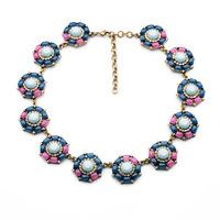 2014 New Style Luxury Statement Jewelry Fashion Vintage Colorful Rhinestones Wild Necklace & Pendants  Free Shipping