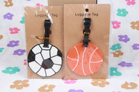 lovely Football and basketball PVC luggage tags/  Travel Name Tag
