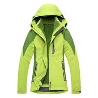 2014Special NewOutdoor Jackets piece female models genuine triple thick fleece warm windproof waterproof mountaineering shipping