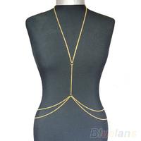 Womens Sexy Fashion Gold Body Belly Waist Chain Bikini Beach Harness  03ND