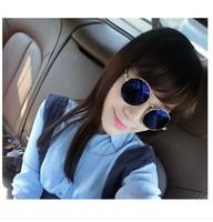 Circle sunglasses female 2014 vintage mercury reflective sunglasses sun glasses