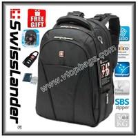 Brand SwissLander,SwissGear,15.6 inch Laptop backpack,notebook men's backpacks,school bagback for macbook pro,W/Raincover,lock