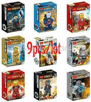 New DIY Decool Super heroes Minifigures Iron Man Building Blocks Sets Toys Figure Bricks lego compatible 9pcs/lot Classic toys