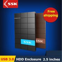 SSK USB 3.0 HDD Enclosure 2.5 Inch SATA HDD CASE Serial port hard disk box  External Harddisk HDD Enclosure box