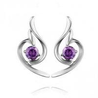 100% 925 Sterling Silver Jewelry Angel Eyes Silver Earrings Fine Jewelry Stud Earrings Top Quality!! Free Shipping