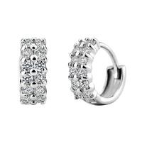 2014 NEW sterling silver S925 jewelry Hot Korean style earrings Starry AAA grade quality Stud Earrings