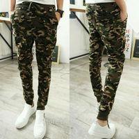 Free Shipping Men's Military Camouflage Jogging Dance Harem Sweat Pants Training Sport Camo Casual Slim Trousers Slacks