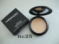 1pcs retail NO NC 010 powder plus foundation,12 colors free shipping