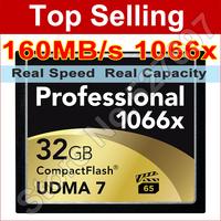 160MB/s Brand Lexar 1066x 64GB CompactFlash CF Memory Card For Canon Nikon Digital DSLR Camera 1080 HD Camcorder 3D Video Device
