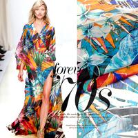 2014 Forest Print 100%Silk Chiffon Fabric  135CM*100CM  6Mommie