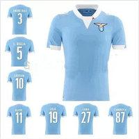 A+++ top Thai quality  Lazio 2015 Thailand home blue Camisetas De Futbol Jersey soccer shirts custom Lulic Konko Ederson Klose