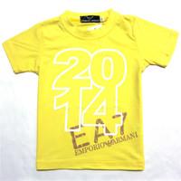 Retail  Brand  2014   New  summer  fashion  children's   shirt  letter  pattern  O-Neck   short  sleeve  boy's short