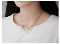 Fashion aristocratic temperament stunning five opal classic luxury fashion short necklace