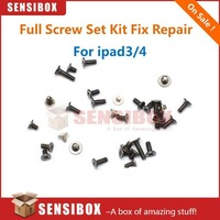 100pcs Full Screw Set Kit Replacement for iPad 3 4 wifi or cellular version used to replace or fix parts of ipad3 ipad4