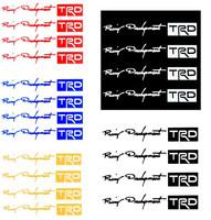 4Pcs/set TRD Car Stickers Auto Door Knob Handle Decals Reflective White