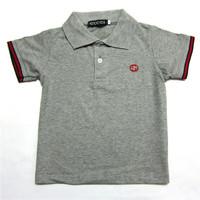 Retail  Brand  2014   New  summer  fashion  children's   shirt  solid  shirt   turn-down  collar   short  sleeve  boy's short