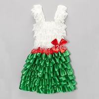 Free Shipping Summer Girls Dress Bow Flower Girl Dresses Frozen Elsa Dress Green Major Color For 2-8yrs