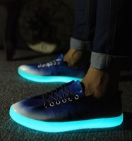 Sole glows han edition men's shoes luminous shoes breathable fluorescent fashion sneakers English N word leisure sports