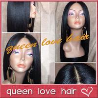 Best unprocessed Italian light yaki full lace wig malaysian virgin hair glueless yaki full lace wigs human hair for black women