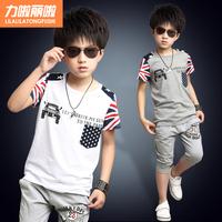 Children's clothing child set child summer male 2014 male child sports set kids clothes