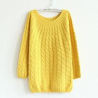 Casacos Femininos 2014 New women's spring and autumn twist sweater hedging sweater coat women blusas de inverno pullovers