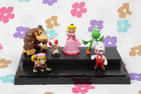 NEW arrival super mario#  Yoshi Kinopio Princess Peach  kingkong  PVC Figurine