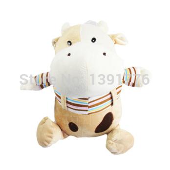 30cm Cattle stripe suspenders cattle dallas doll Large dolls denim plush cow birthday gift(China (Mainland))