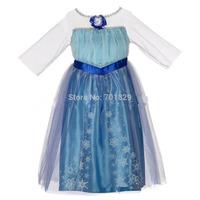 HOT! New !!!2014 summer dress Chidren Frozen Queen clothing baby girls elsa dress kids cartoon Frozen princess Voilet dress 5pcs