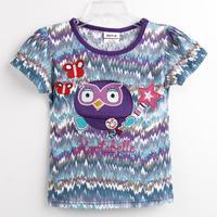 Hot new fashion Nova kids brand baby girls children clothing summer short sleeve T-shirt for girls K4375