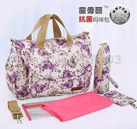 Wholesale Bolsa  Maternidade Tote Baby Shoulder Diaper Bags Cotten 5pcs/set Multifunction Pregnant Women Diaper Nappy Baby Bag