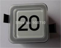 OT*S Elevator accessories button square white, black character button