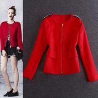 Ladies Red bead diamond coat Overcoats Jacket Coats Tops