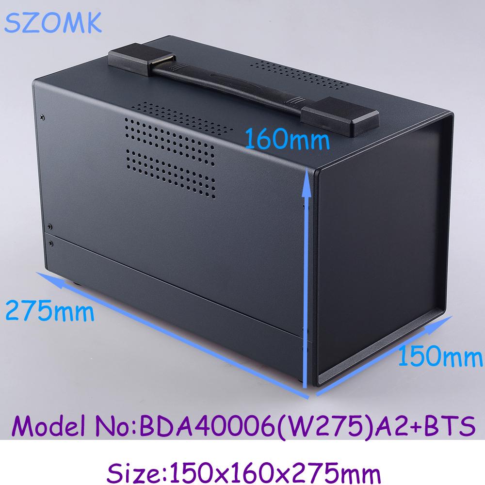 (1pcs)150x160x275mm 2014 new electronic project box pcb holder electrical box meta