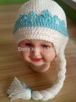 hot sale new styles  handmade crochet frozen  elsa hat