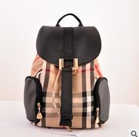 2014 New Long Yun supply fashionable and elegant British style plaid shoulders back female bag bag wholesale